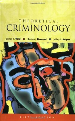 Theoretical Criminology by Vold, the late George B. Paperback Book The Cheap