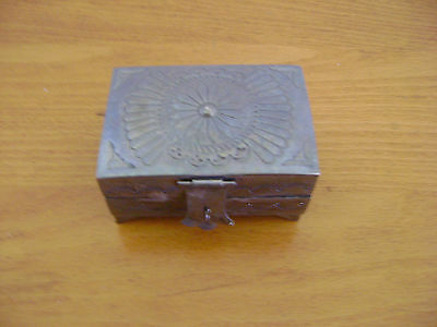 Sterling Silver hinged trinket or pill box