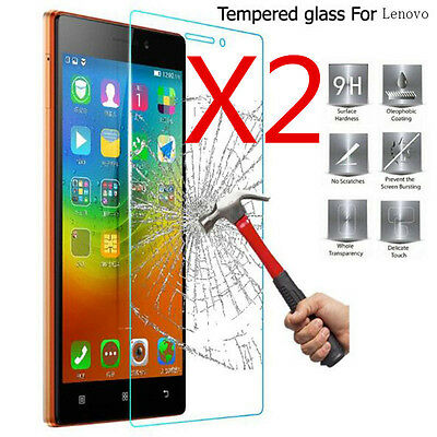 2Pcs 9H+ Premium Tempered Glass Cover Screen Protector For Lenovo Cell Phone
