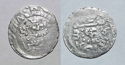 (9120) Great Mongol, Chaghtayid AR re-struck coin.