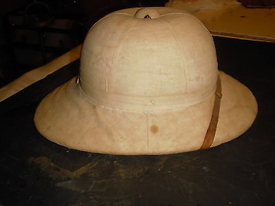 Antique Well Used Pith Helmit ---Early 1900