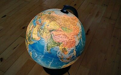 Nova Rico florence map globe with electric light. Plus bulb, blue in colour