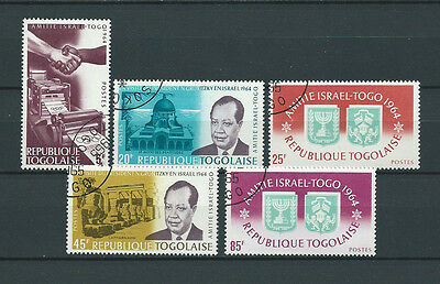 TOGO - 1965 YT 439 à 443 - TIMBRES OBL. / USED