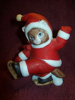 Schmid KITTY CUCUMBER Ginger Ice Skating - 1987 - Excellent Condition - ADORABLE