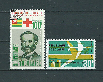 TOGO - 1966 YT 53 à 54 POSTE AERIENNE - TIMBRES OBL. / USED