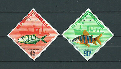 TOGO - 1967 YT 63 à 64 POSTE AERIENNE - TIMBRES OBL. / USED