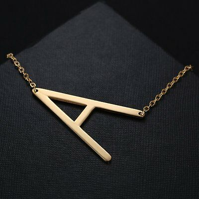 Fashion Stainless Steel Jewelry Big 26 Letters Necklaces Pendant Women New Gifts