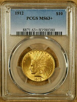 1912 PCGS MS63+ $10 Indian Gold Eagle - Better Date