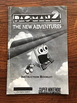 Pac Man 2 The New Adventures Pacman Super Nintendo SNES Instruction Manual Only
