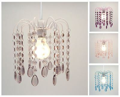 Droplet Gem Chandelier Ceiling Pendant Light Shade, Easy Fit Light Decoration