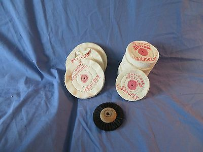 Lot 13 National Keystone Dental,Jewelry Lathe  Rag Wheel Polishers,Wire Polisher
