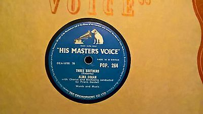 "10"" 78Rpm - Alma Cogan - Three Brothers (Hmv Pop.284)"