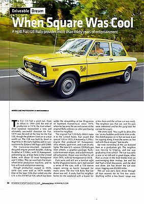 1978 Fiat 128 Rally  ~  Nice 4-Page Article / Ad