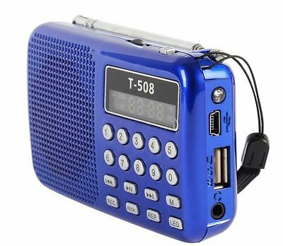 Poste Radio De Poche AM/FM Lecteur Mp3 mini SD Carte Usb Batterie digital  Led