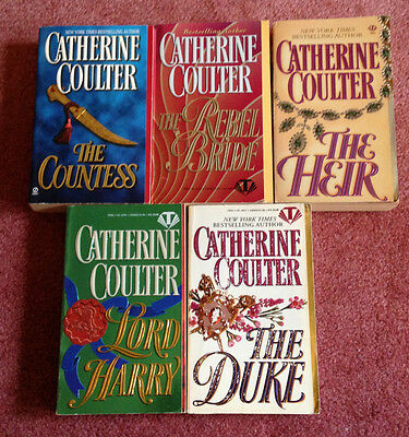 LOT of  5 REGENCY ROMANCES by CATHERINE COULTER, The Countess, The Rebel Bride