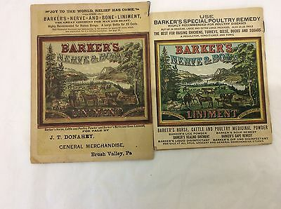 2 Barker's Illustrated Almanac 1893 and 1917