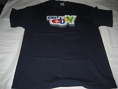 2006 Do It eBay Navy Blue Large Short Sleeve Shirt--Brand New-Ad Campaign