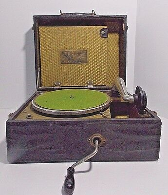 VINTAGE 1920's COLUMBIA HARMONY PORTABLE PHONOGRAPH RECORD PLAYER