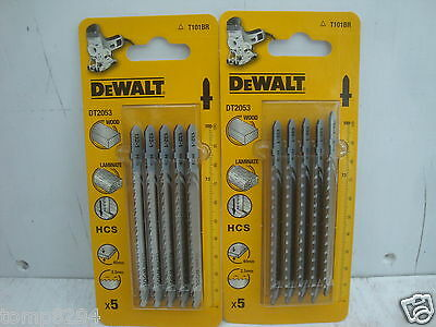 2 Packs Of 5  Dewalt Dt2053 Kitchen Worktop Down Cutting Jigsaw Blades T101Br