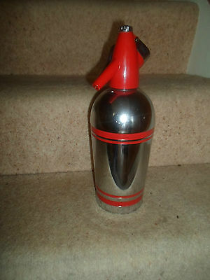 Vintage Retro Sparklets Red And Chrome Stylish 70's Soda Siphon