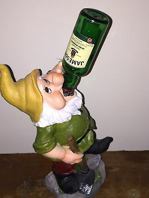 Jameson Irish Whisky Drinking Solar Gnome-Rare-Light Up Bottle