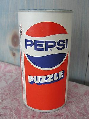 Vintage Plastic Pepsi-Cola Can Advertising Brain Teaser Puzzle Still Coin Bank