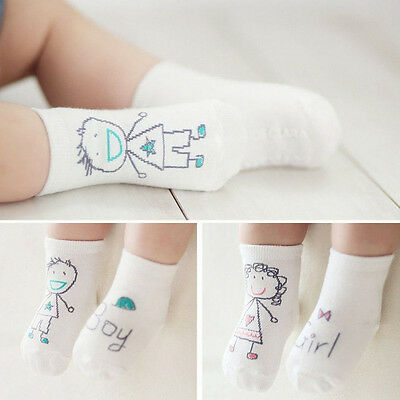 Newborn Baby Boy Girl Infant Toddler Asymmetry Anti-Slip Cotton Floor Socks Cute
