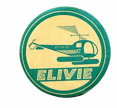 Vintage Advertising Label ELIVIE HELICOPTERS