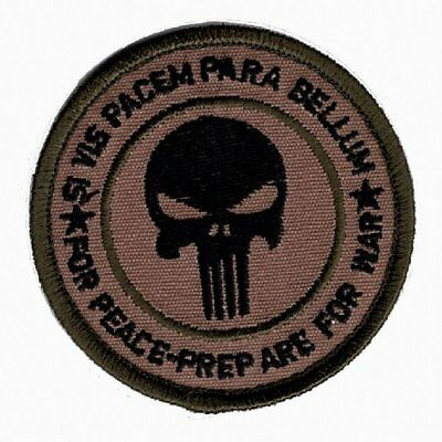 Punisher Skull Si Vis Pacem Para Bellum Hook Patch
