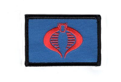 GI Joe Cobra  3.0 x 2.0 Cosplay Embroidered Snake morale hook patch