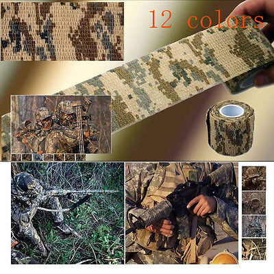 Military Multi-color 4.5M 1 Roll Stretch Bandage Camping Hunting Camouflage Tape