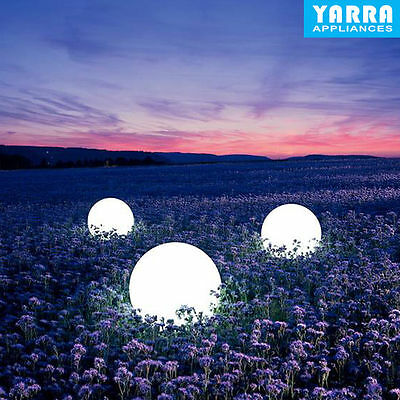 Outdoor Solar Powered LED Ball Light Colorful Waterproof Garden Path Way Lamp