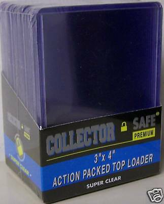1 Pack of 25 Collectors Safe 3 x 4 x 1.5mm Thick Card Topload Holder 55 pt.