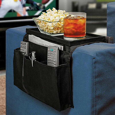 Arm Rest Organiser Armrest Chair Couch Sofa TV Remote Control Holder 6 Pockets