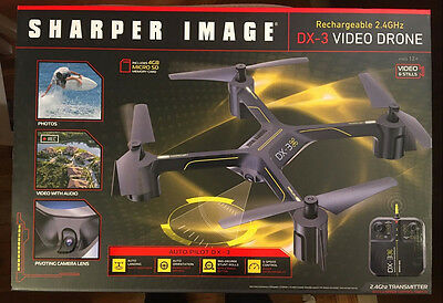 Sharper Image Rechargeable Dx 3 Video Drone 24 Ghz W Remote