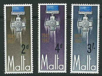 Malta Sg379/81 1967 George Cross Mnh