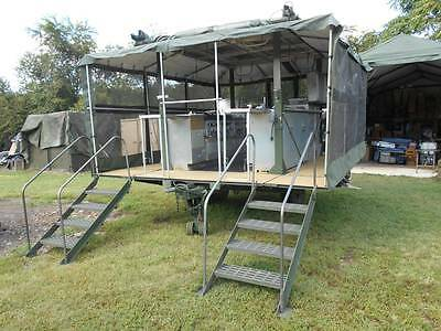 MOBLE ARMY FIELD Kitchen Military Tent Surplus 6 Mbu Burners 2 Stoves  Portable