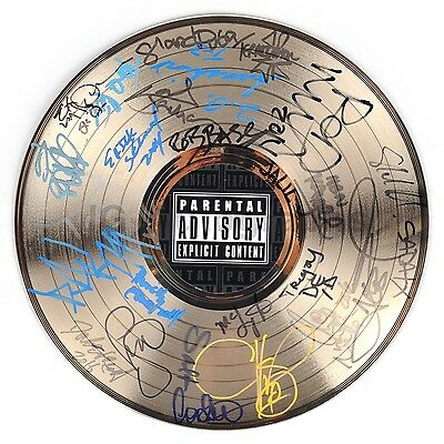 Golden Age of Hip Hop Autographed Record by Public Enemy, Rakim, Whodini, EPMD +