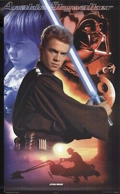 ATTACK OF THE CLONES ~ ANAKIN COLLAGE 22x34 MOVIE POSTER Star Wars Episode II 2