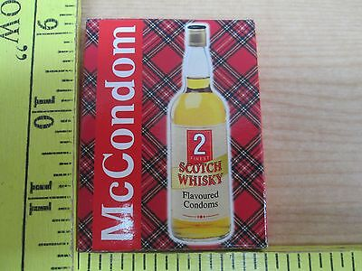 2 Vtg  McCondoms Scotch Whisky Flavoured Condoms In One Box NOS nr