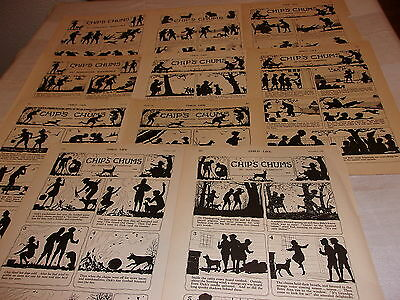 CHIP'S CHUMS Lot 10 PAGES Marjorie Barrows SHADOW Artwork & Tale Child Life 1927