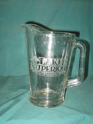 Glass Beer Pitcher...Lake Superior Brewing Company...TOOOEWILI... Ex Cond!!!