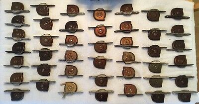 Vintage Antique Window Sash Weight Pulleys Bronze Tone Metal Lot of 43 Pre-Owned