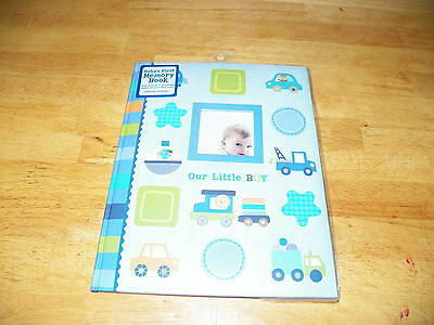 New OUR LITTLE BOY Baby's First Memory BOOK Keepsake STEPPING STONES album