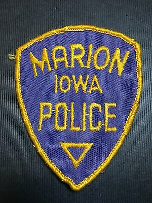 Marion Iowa Police  Shoulder Patch  Old