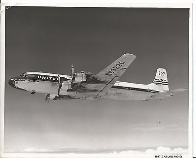 Vintage United Airlines Airlines Photo Photograph of Airplane DC-7 #2
