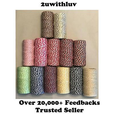 Bakers Twine 100 Meter Cotton String - Wedding Party Gift Decor Craft Scrapbook