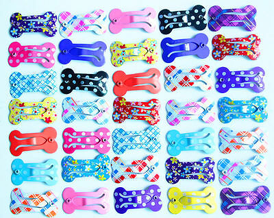 New Mini Bones Pet Dog Hair Bows with Clips Small Dog Bows Dog Grooming Products