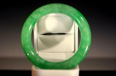 "A Type"" Fine Natural "" Green Color"" Jadeite Bangle Brecelet,"