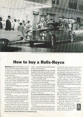 How to buy a Rolls-Royce ad 1964 under marquee